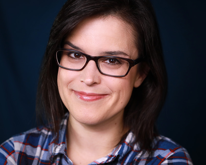 commercial headshot with glasses